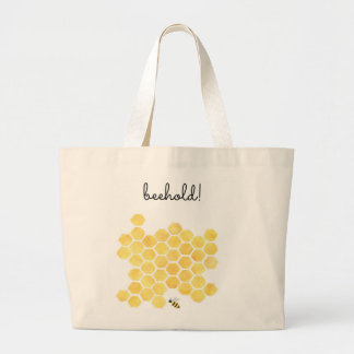 Yellow bee painting giant tote