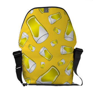 Yellow beer courier bags