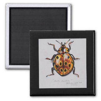 Yellow Beetle Products Square Magnet
