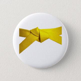 Yellow Belt 6 Cm Round Badge