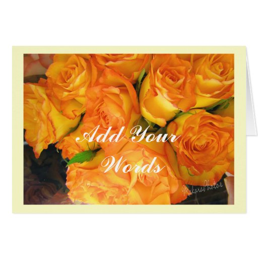 Yellow bi-color Roses-any occasion Card