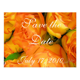 Yellow BiColor Roses- Save the Date-customize Postcard