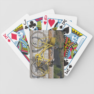 Yellow bicycle in Italy Bicycle Card Deck