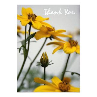 Yellow Bidens - Thank You Card - 13 Cm X 18 Cm Invitation Card