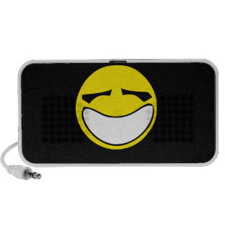 Yellow big smiley smile portable speakers