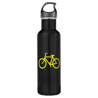 Yellow  Bike 710 Ml Water Bottle