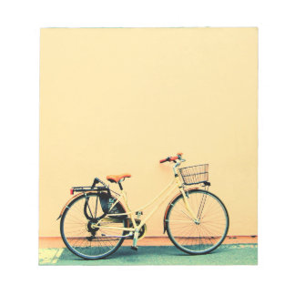 Yellow Bike Basket Bicycle Two Wheel Notepad