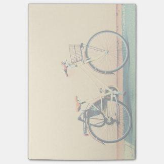 Yellow Bike Basket Bicycle Two Wheel Post-it Notes
