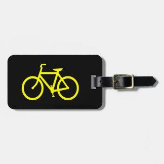 Yellow  Bike Luggage Tag