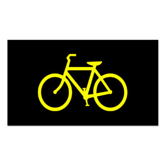 Yellow  Bike Pack Of Standard Business Cards