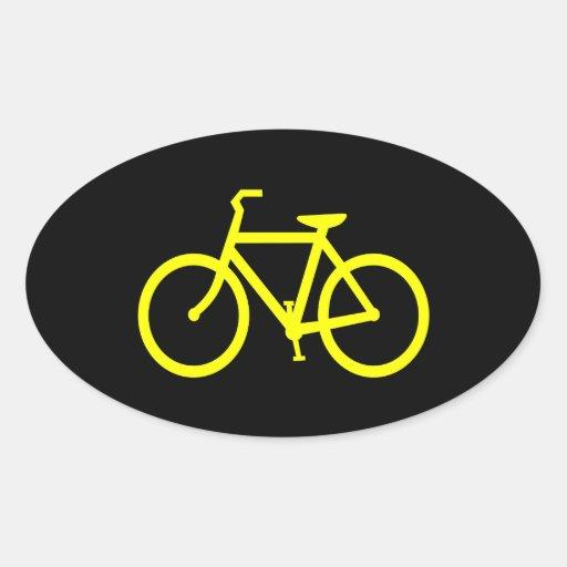 Yellow  Bike Sticker