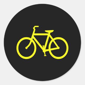 Yellow Bike Stickers