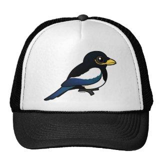 Yellow-billed Magpie Trucker Hats