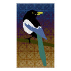 Yellow Billed Magpie Poster