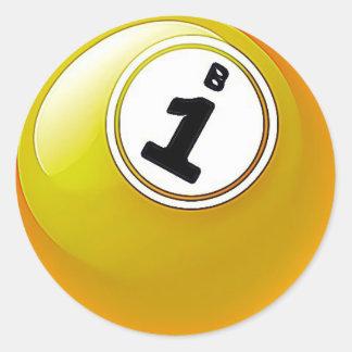Yellow BINGO Ball Stickers