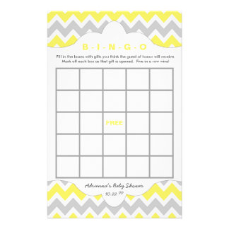 Yellow Bingo purse baby shower TWO GAME SET 14 Cm X 21.5 Cm Flyer