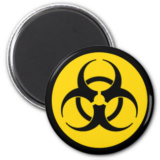 Yellow Biohazard Symbol Magnet