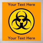 Yellow Biohazard Symbol Poster