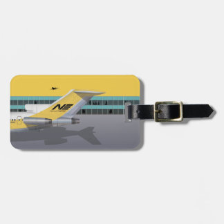 Yellow Bird Airline Luggage Tag