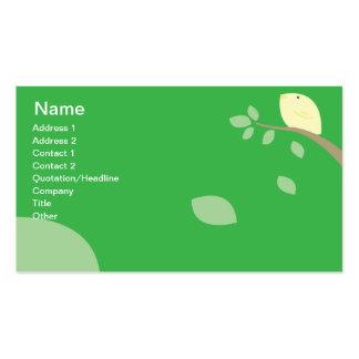 Yellow Bird - Business Pack Of Standard Business Cards