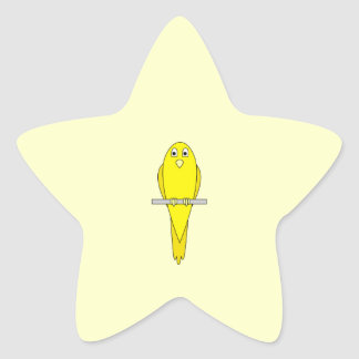 Yellow Bird. Canary. Star Sticker
