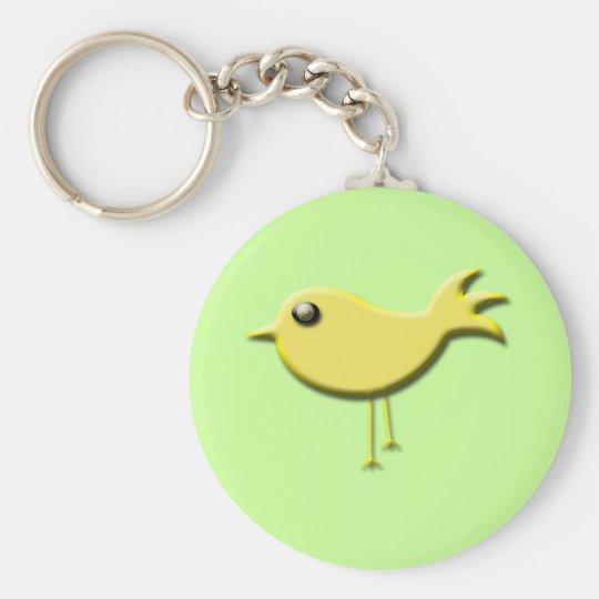 Yellow Bird Gifts Basic Round Button Key Ring