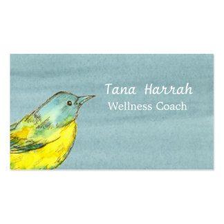 Yellow Bird Gray Watercolor Pack Of Standard Business Cards