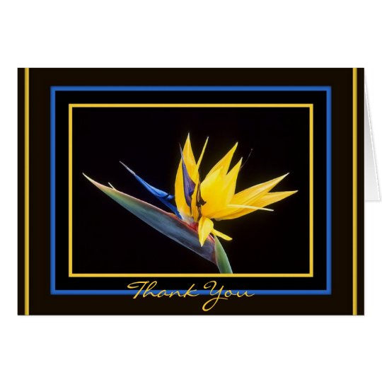 Yellow Bird-of-Paradise Thoughtful Thank You Card