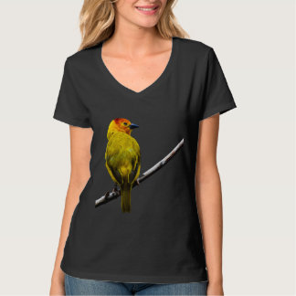 Yellow Bird on a Branch Tshirts