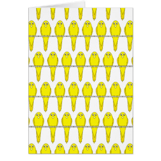 Yellow Bird Pattern. Canaries. Card