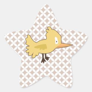 Yellow Bird Star Sticker