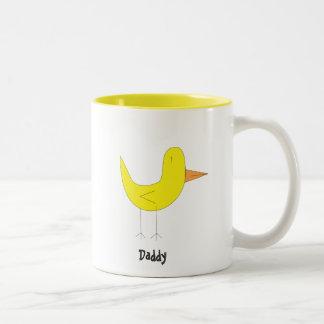 Yellow Bird Two-Tone Mug