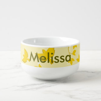 Yellow Birds and Branches Soup Mug