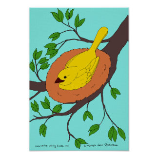 Yellow Bird's Nest Poster