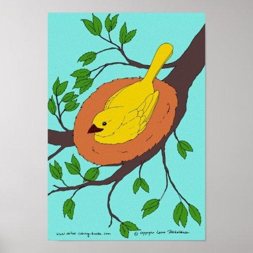 Yellow Bird's Nest Posters
