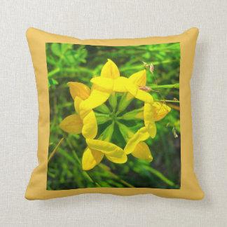 Yellow Birdsfoot Trefoil Flowers Throw Pillow