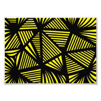 Yellow Black Abstract Photo Print