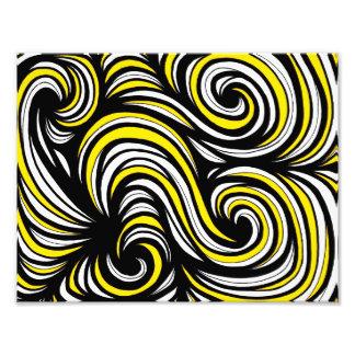 Yellow Black Abstract Art Photo