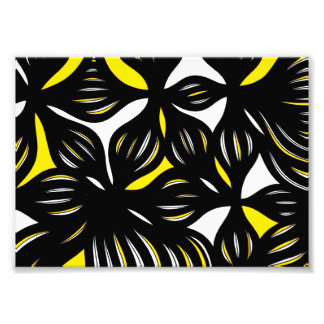 Yellow Black Abstract Photographic Print