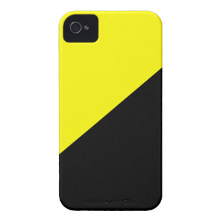 Yellow & Black Anarcho Capitalism Flag iPhone 4 Case-Mate Cases