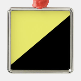 Yellow & Black Anarcho Capitalism Flag Christmas Ornament