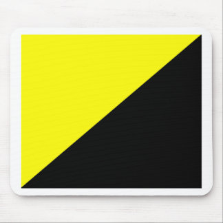 Yellow & Black Anarcho Capitalism Flag Mouse Mat