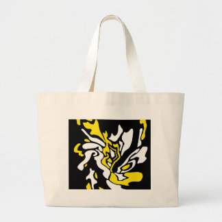 Yellow, black, and white decor jumbo tote bag