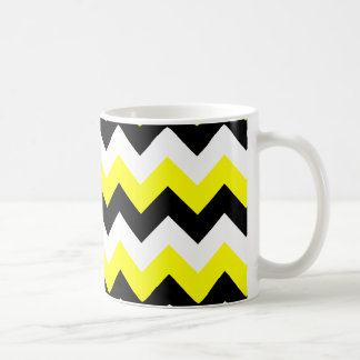 Yellow Black and White Zigzag Coffee Mug