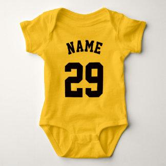 Yellow & Black Baby | Sports Jersey Design Baby Bodysuit
