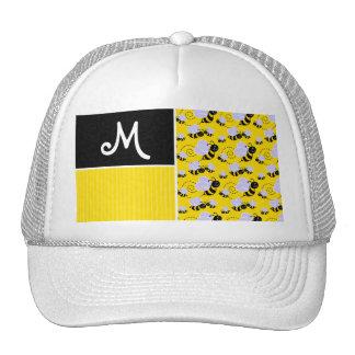 Yellow & Black Bee Pattern Trucker Hat