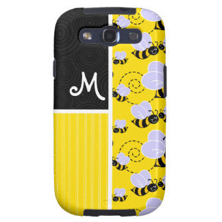 Yellow & Black Bee Pattern Galaxy S3 Case