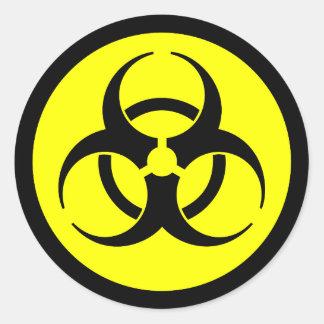 Yellow & Black Biohazard Symbol Sticker