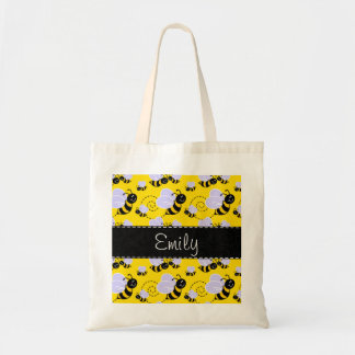 Yellow & Black Bumble Bee Budget Tote Bag