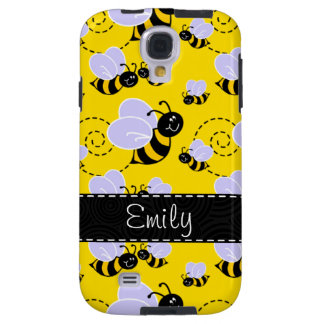 Yellow & Black Bumble Bee Galaxy S4 Case